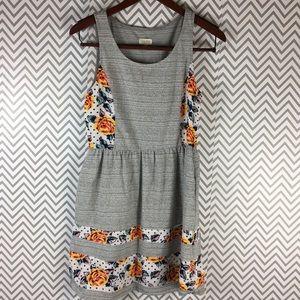 /maison Jules/ floral & gray cotton tank dress